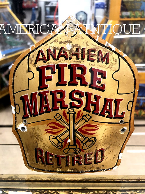 Helmet Leather Front Shield / USA Firefighter