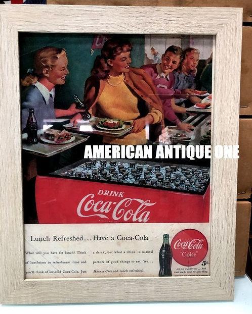 2016年 USAコカ・コーラ★レストラン 額入り ポスター USA直輸入
