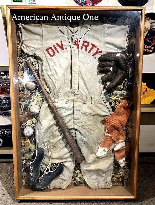 大型139cm メジャーリーグ DIV.ARTY. 額入り ディスプレイ アメリカンヴィンテージ USA直輸入