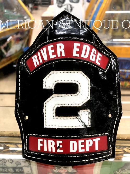 Helmet Leather Front Shield / USA Firefighter F.H.F.D.の複製