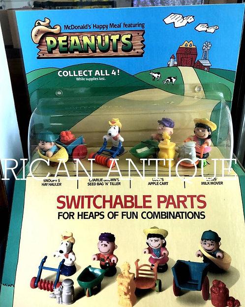 1980s Peanuts /USA McDonald's Happy Set Display