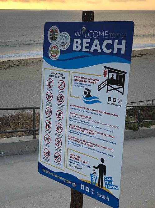 レドンドビーチ 看板