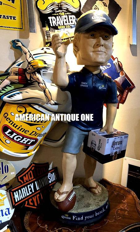 アメリカのBARで活躍 非売品 グルーデン COACH GRUDEN コロナビール 巨大バブルヘッド 125cm