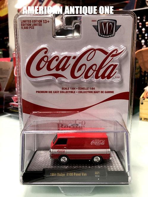 新品未開封 2019年 USAコカ・コーラ ミニカー 1964年 ダッジ A100 パネルバン