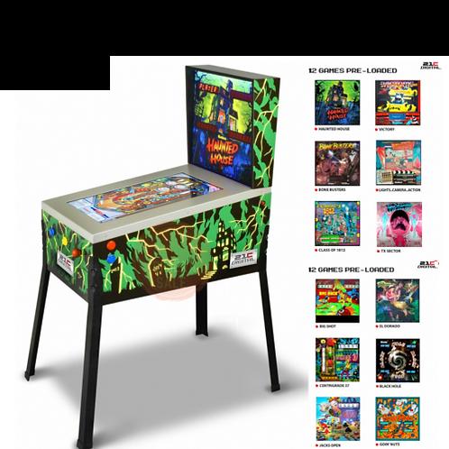 みんなで遊べる!! 新品★USA 3Dデジタル ピンボールマシン 12種類のゲームで遊べる♪ お化け屋敷とブラックホール ゴットリーブ社
