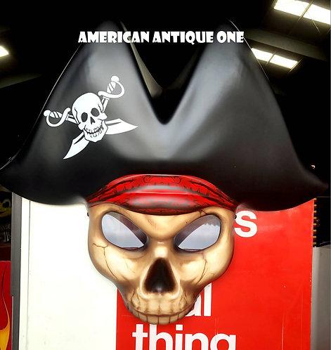 新品 大型68cm USA非売品!! パイレーツ 海賊 壁掛けディスプレイ ラスベガスカジノ スロットマシーンパーツ