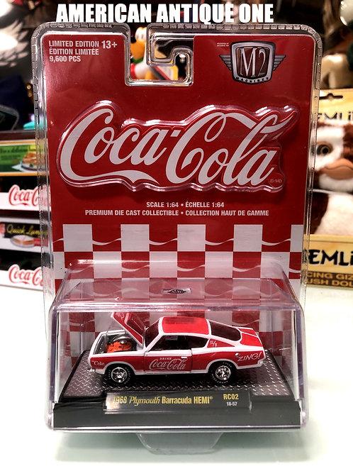 新品未開封 2019年 USAコカ・コーラ ミニカー 1968年モデル プリムス・バラクーダ HEMI