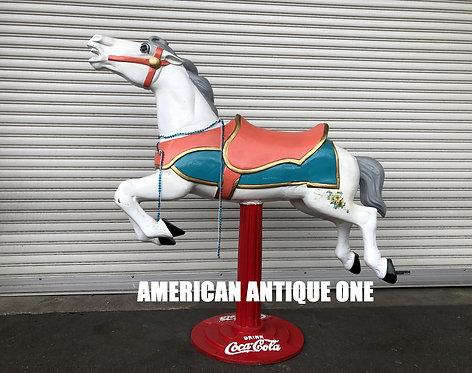 USAコカ・コーラ 本物のメリーゴーランドの馬を使用!! ホース スペシャルカスタム ディスプレイ USA直輸入