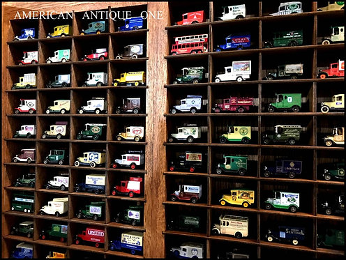 イングランドミニカー 豪華80台セット 木製棚付き 壁掛けOK