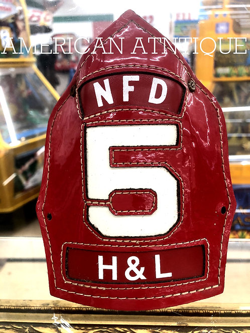Helmet Leather Front Shield / USA Firefighter H&L