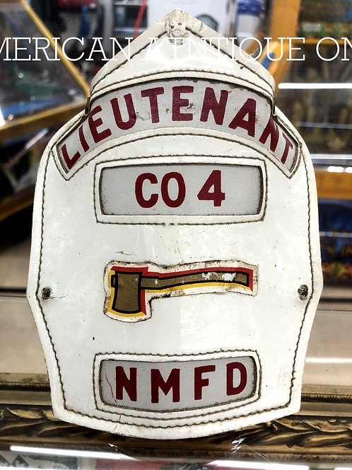 Helmet Leather Front Shield / USA Firefighter NMFD
