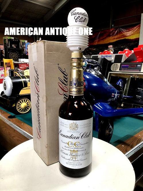 オシャレ空間演出に^^ 大型64cm カナディアンクラブ 空瓶 正規ボックス、ハンドポンプ付き USA直輸入