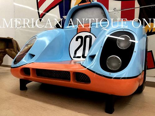 奇抜なカラーリングで存在感抜群!! 新品 レーシングカーデザイン シングルデザイン 大型150cm ファイバーグラス製