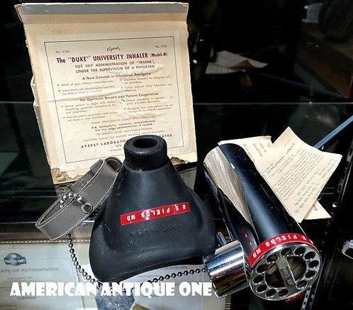 日本希少!! デューク吸入器 C.ロナルドスティーブン博士発明の医療機器 Ayerst Laboratories社制作 正規ボックス付き ヴィンテージ