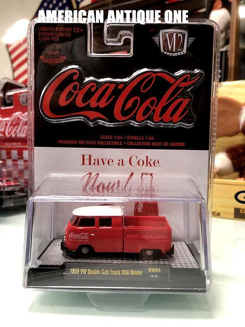 新品未開封 2019年 USAコカ・コーラ ミニカー 1960年モデルフォルクスワーゲン ダブルキャブトラック USAモデル