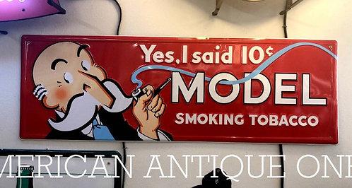 Model Smoking Cigarette Sign