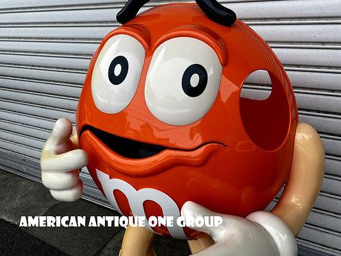 ラスト1体!! アメリカでも希少カラー 大人気★エムアンドエムズ 大型95cm フィギュア オレンジ USA直輸入
