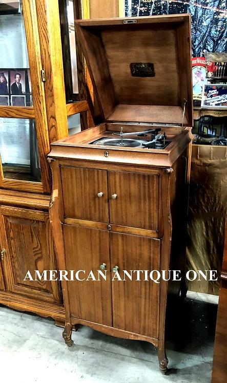 1921年 大型120cm ビクター VV-110 レコードプレイヤー アメリカン・ヴィンテージ USA直輸入