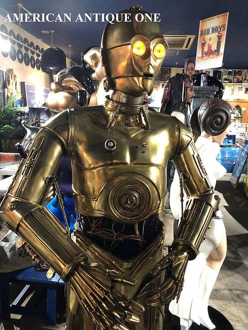 世界250体 C-3PO / スターウォーズ サイドショウ製作 鉄製リアル なんと話します!! 目が光る!! 等身大フィギュア