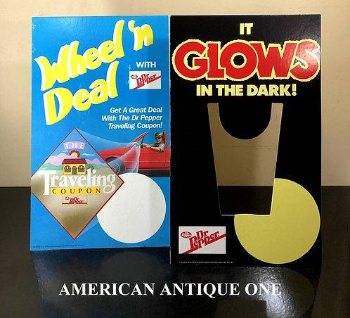 1988年 USA非売品 激レア!! ドクターペッパー ショップ 販促物 2枚セット アメリカンヴィンテージ