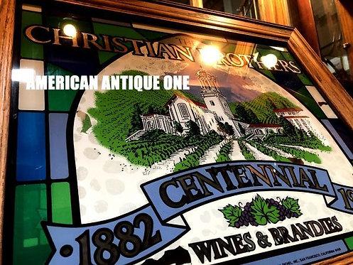 1982年 迫力の62cm クリスチャンブラザーズ 100周年記念 アメリカ・ミラー 看板 壁掛けOK!! USA直輸入