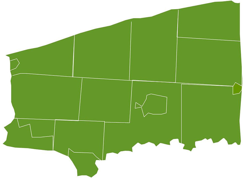 Map of Municipalities in Niagara County