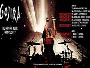 LIVE REPORT GOJIRA MAGMA TOUR 1/17