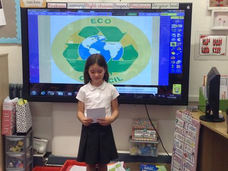 Eco Council presentations in 4B