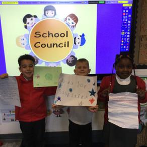 Year 1's amazing school council presentations.