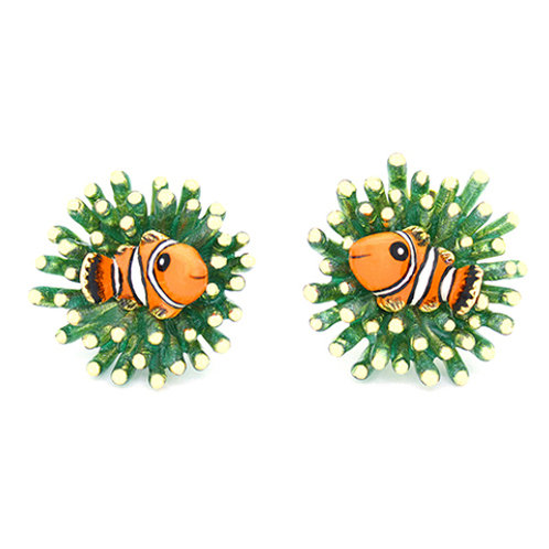 CLAWN FISH AND SEA ANEMONE EARRINGS