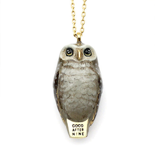 HAPPY  OWL WHISTLE NECKLACE