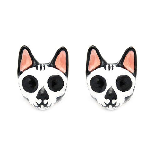 MORI SKULL CAT EARRINGS