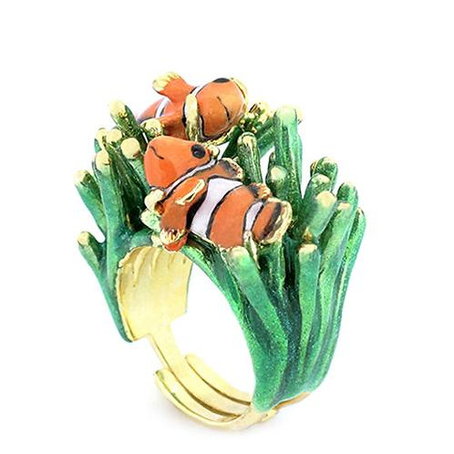 CLAWN FISH AND SEA ANEMONE RING
