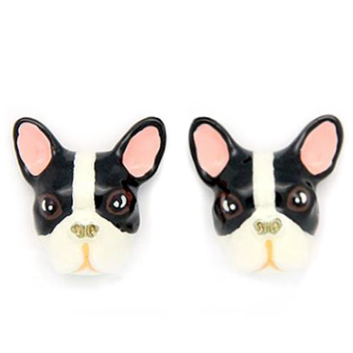 FRENCH BULLDOG EARRINGS B&W