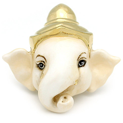 LITTLE GANESHA WHITE RING