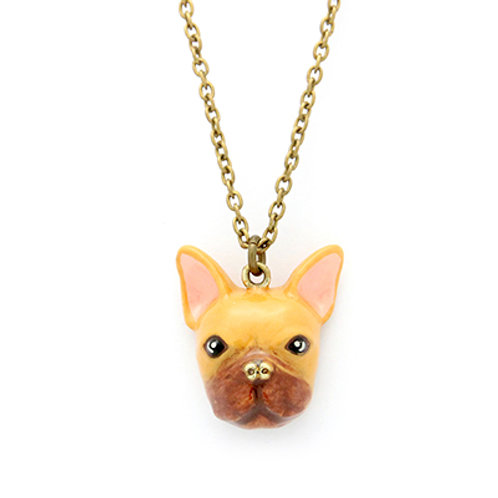 FRENCH BULLDOG NECKLACE (BROWN)