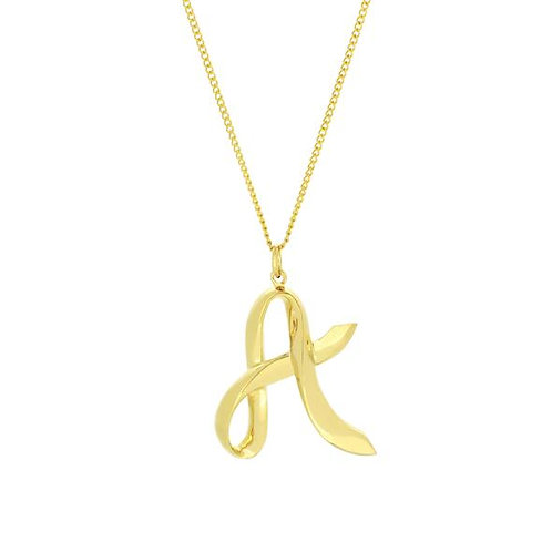 Alphabet A Necklace
