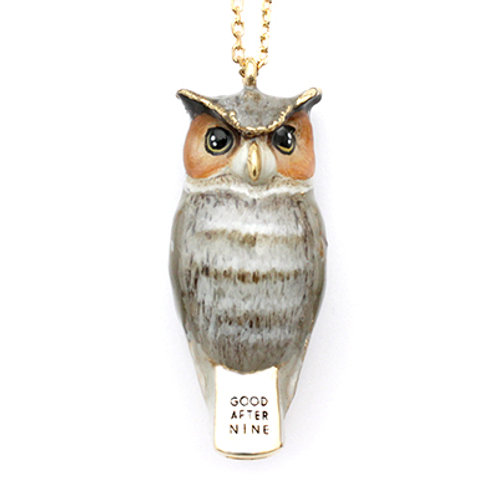 MERRY  OWL WHISTLE NECKLACE