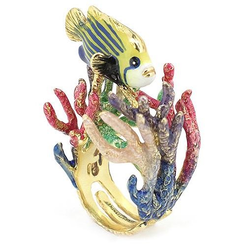 ANGEL FISH AND REEF RING