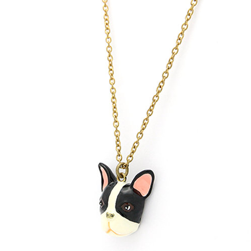 FRENCH BULLDOG B&W NECKLACE