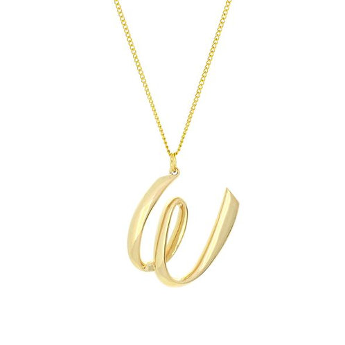 Alphabet W Necklace