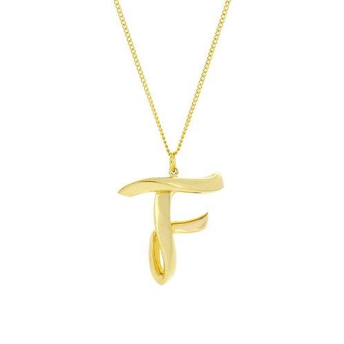 Alphabet F Necklace