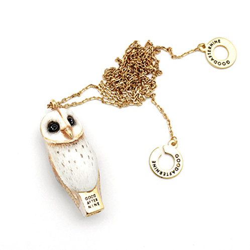 LUCKY OWL WHISTLE NECKLACE