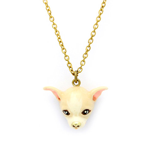 CREAMY CHIHUAHUA NECKLACE