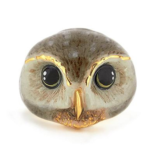 HAPPY SPOTTED OWL RING