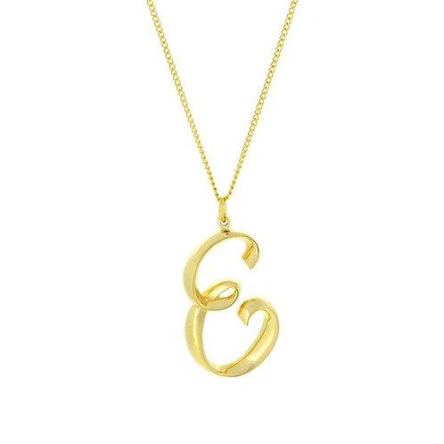Alphabet E Necklace