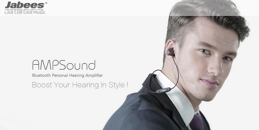 Jabees AMPSound(ジャビーズアンプサウンド) ワイヤレスヒアラブル集音器 集音機能付きワイヤレスイヤホン