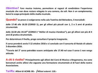 MUSICA D'INSIEME A BREGANZONA: I MUSICANTI DI BREGA