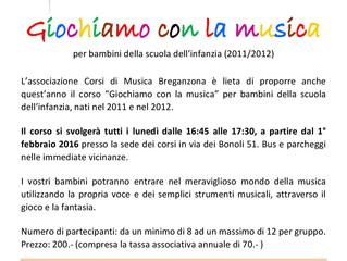 GIOCHI IN MUSICA PER I PIù PICCOLI