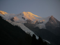 Mt Blanc from Chamonix